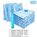 11PCS Verdickt Vakuum Lagerung Tasche Für Tuch Komprimiert Tasche mit Hand Pumpe Wiederverwendbare Decke Kleidung Quilt Veranstalter