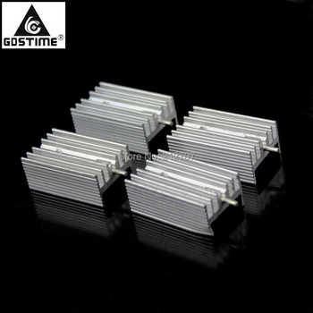 200Pcs Gdstime TO-220 TO220 Heat Sink 21x15x11mm Aluminum TO 220 Heatsink Radiator Cooler Cooling ka78r08 to 220