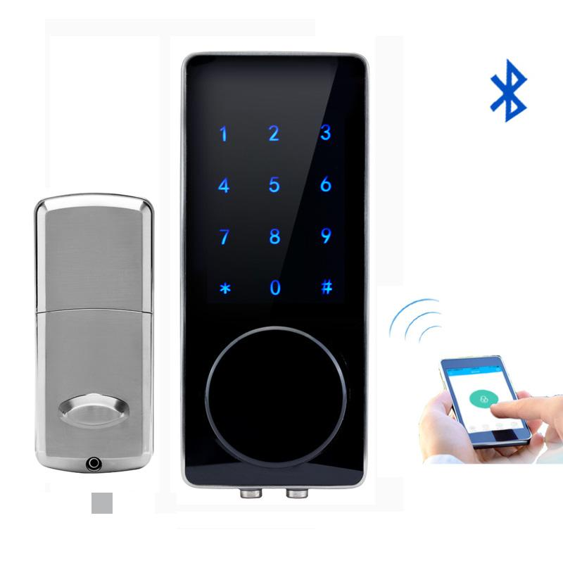 smartphone bluetooth padlock bluetooth smart electronic door lock app code deadbolt for hotel and apartment