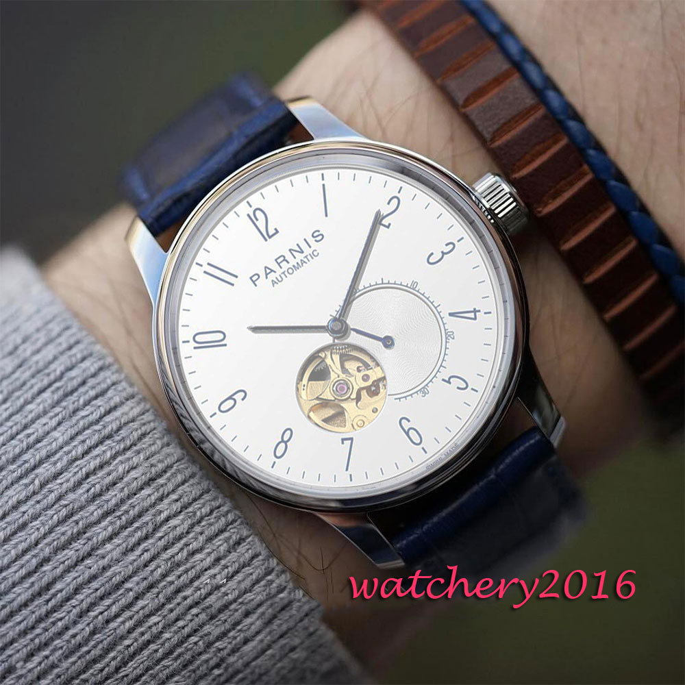 Luxury Brand 42mm Parnis White Dial Sapphire Glass Miyota Automatic Movement men's Watch 42mm parnis withe dial sapphire glass miyota 9100 automatic mens watch 666b