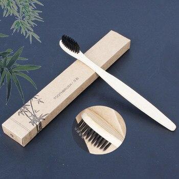 1/3 adet yeni sağlık gökkuşağı yumuşak bambu kömür diş fırçası ağız bakımı diş eko yumuşak orta fırçalar diş beyazlatma toptan