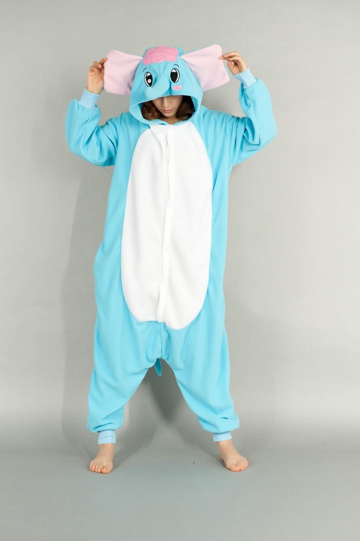 Для взрослых Аниме Kigurumi onesies милый костюм слона для женщин и мужчин Забавный Теплый Мягкий комбинезон с животными одежда для сна домашняя од