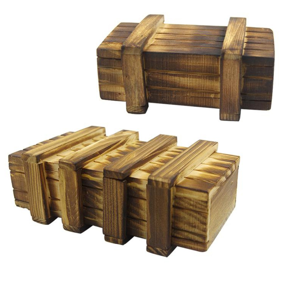 Small Of Wooden Puzzle Box