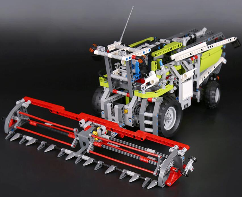 LEPIN City Technic 2 In 1 The Combine Harvester Figure Blocks Compatible Legoe 8274 Construction Building Toys For Children waz compatible legoe city lepin 2017 02022 1080pcs city 50th anniversary town figure building blocks bricks toys for children
