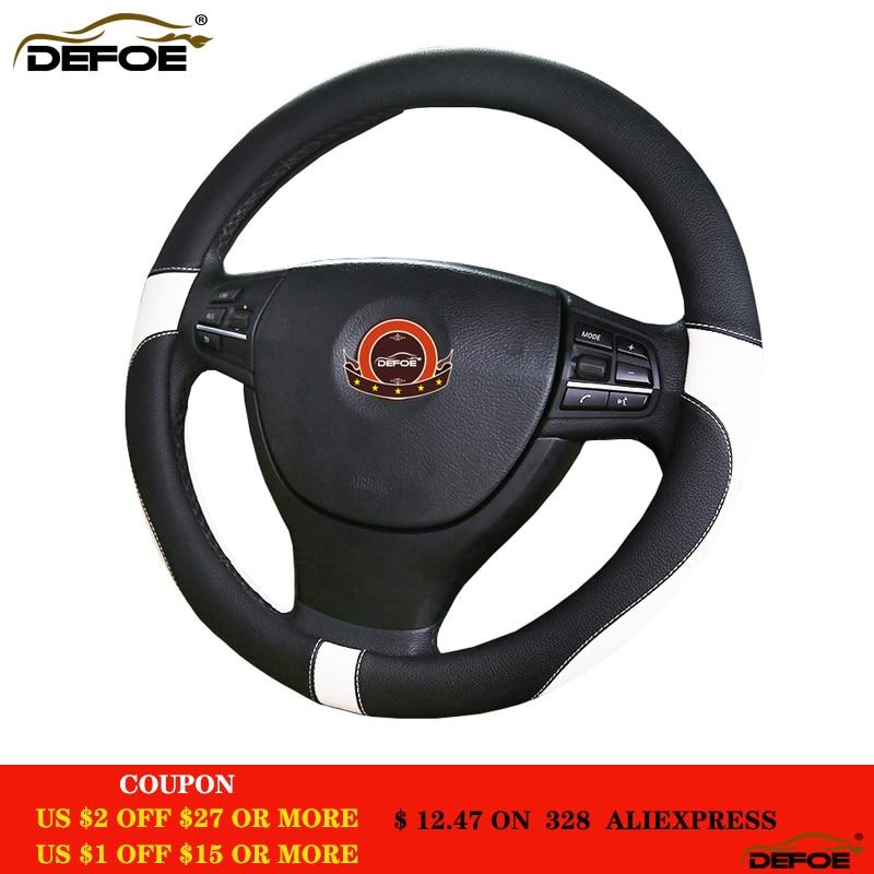 Yeni Spor Deri araba direksiyon kapağı araba-styling Çevre koruma koklamak Değil Çapı 38 cm 4 renk freeshipping