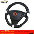New Sport Leather car steering wheel cover car-styling Environmental protection Not smelly Diameter 38 cm 4 color freeshipping