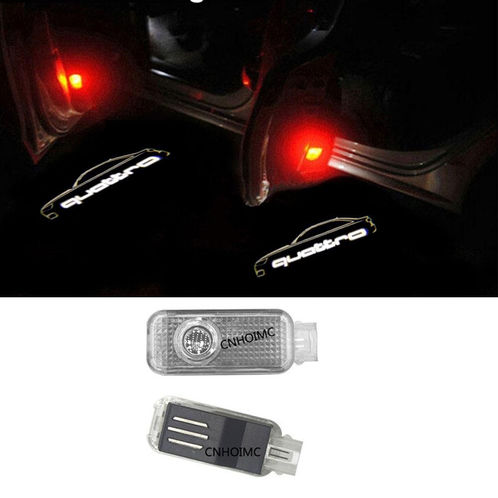 2X <font><b>LED</b></font> Car Door Welcome Light 12V Car door Projector For Audi A3 <font><b>A4</b></font> B6 <font><b>B8</b></font> B7 A6 C5 C6 Q5 A5 Q7 Q3 TT R8 A8 A7 Quattro Logo