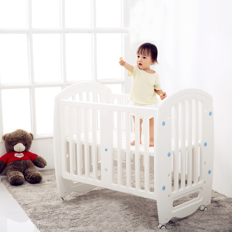 Yaraca Baby Cot Non-toxic PE Plastic Material Crib For Infant Multifunctional Game Bed For Kid From Newborn To 6 Years Old