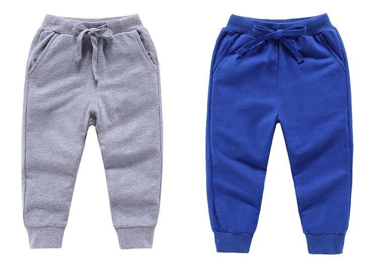 Retail New Warm Velvet Pants For 2-10 Yeas Solid Boys Girls Casual Sport Pants Jogging Enfant Garcon Kids Children Trousers 7