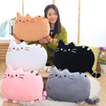 Kawaii Biscuits Cat Pillow Plush Cushion Brinquedos With PP Cotton Stuffed Animal Plush Toys Dolls Kids Home Decoration 40x30cm