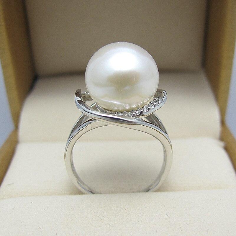 Mariage éternel femmes cadeau mot 925 en argent Sterling réel naturel Taihu perle d'eau douce bague 925 en argent Sterling véritable