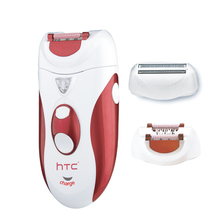 Htc 2 In 1 Rechargeable Hair Epilator Women Shaver Female Electric Hair Shaving Machine Body Depilador Lady Trimmer Removal Eu kemei 4 in 1 women epilator electric female depilador lady shaver razor rechargeable bikini trimmer body facial hair removal
