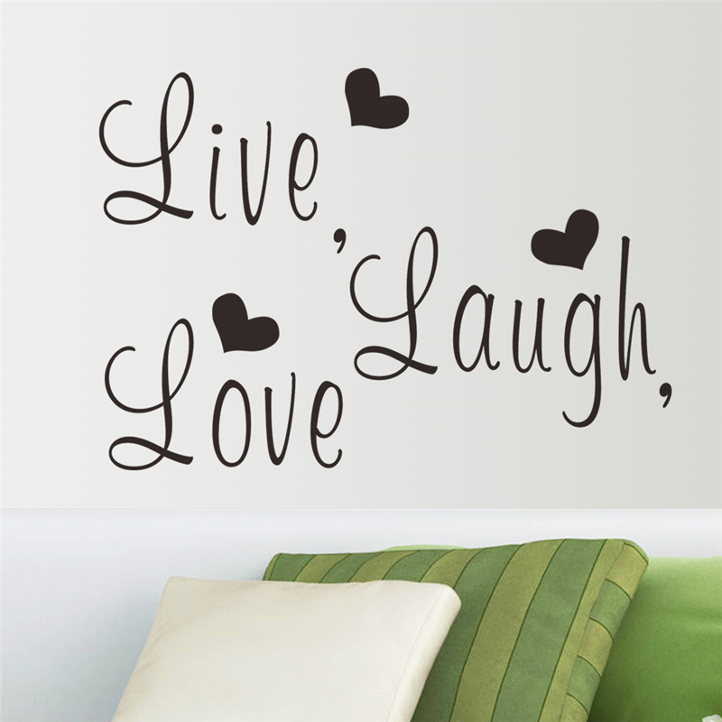 Live Laugh Love Inspirational Quotes Wall Stickers Room Decoration 8023 Diy  Vinyl Adesivo De Paredes Poster Decals Mural Art 4.0 In Wall Stickers From  Home ... Part 94