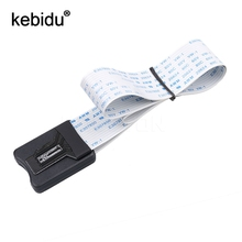 Kebidu 25CM micro SD card Flex cable Extender Adapter reader car GPS mobile 25CM Memory Card Extender Cord Linker