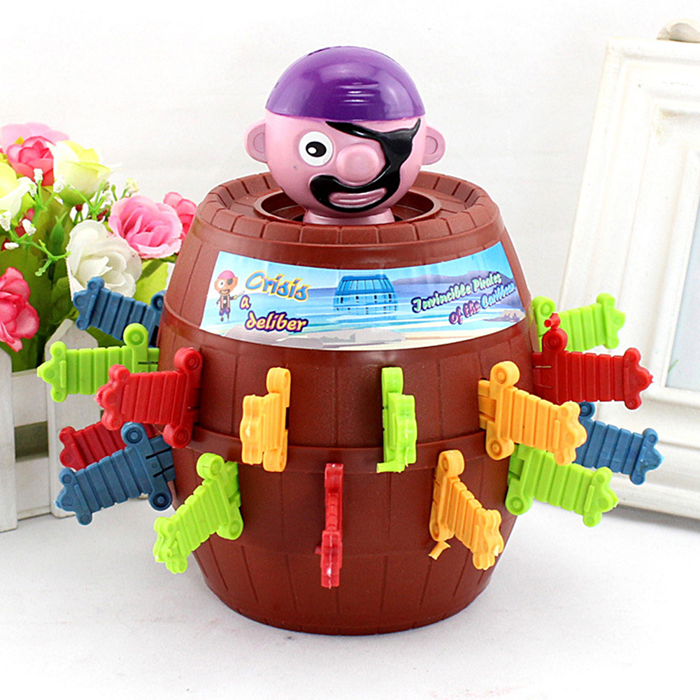 Novelty Toy Pirate Bucket for Kids and adults Lucky Stab Pop Up Game Toys Intellectual Game For Kids image