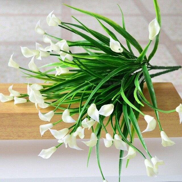 جديد جميلة 25 رؤساء/باقة البسيطة الاصطناعي كالا مع أوراق البلاستيك وهمية زنبق المائية النباتات المنزل غرفة الديكور زهرة