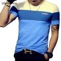 Camisa Dos Homens T 2017 Nova Moda de verão Listrado T Shirt Dos Homens clothing tendência camisa de manga curta slim fit casual mens top tee 5XL