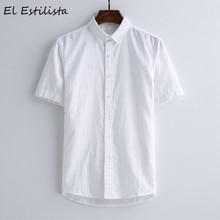 16d118ea403ce Mens Casual Short Sleeve Linen Shirts Solid Color New Summer Leisure Beach Shirt  Turn-down Collar Soft Cool Hemp Men s Clothing