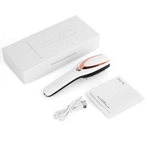 Image 2 - 3 IN 1 USB נטענת לייזר צמיחת שיער אינפרא אדום חשמלי עיסוי אנטי שיער אובדן פוטותרפיה קרקפת לעיסוי מסרק LED אור