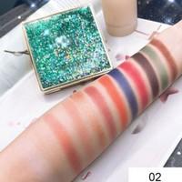 12 Colors Natural Mermaid Eyeshadow Pallete Gold Sanding Design Nude Waterproof Long Lasting Shimmer Matte Eyeshadow Eyeshadow