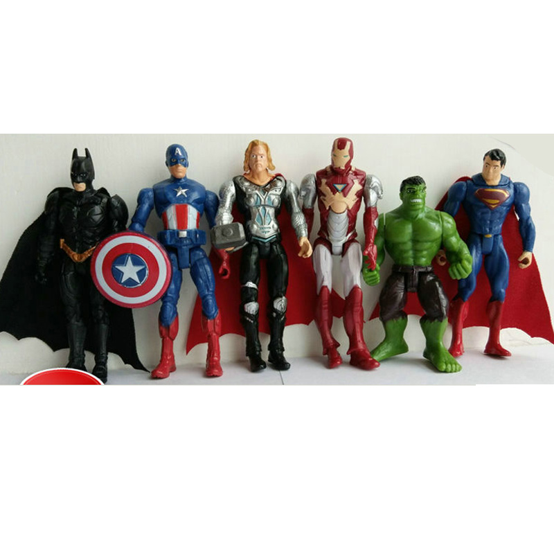 Super Hero Toys For Boys : New pcs set quot cm marvel man toys the avengers