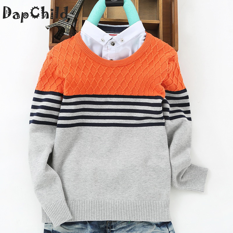 Boys Sweaters Pullover Sweater Kids Winter Turtleneck Cotton Knitt...