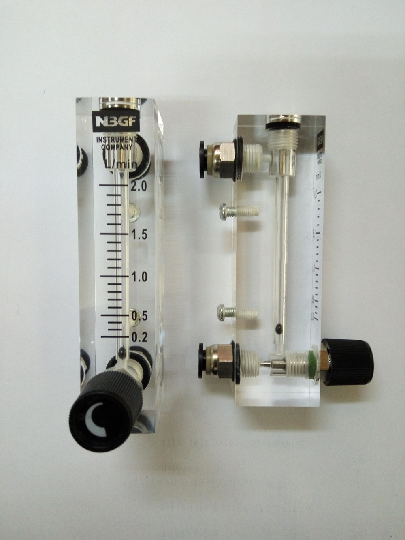 LZT-4T 1-5LPM (1-5L/min ) Square Panel Gas liquid Flowmeter Flow Meter rotameter LZT4T Tools Flow Measuring  цены