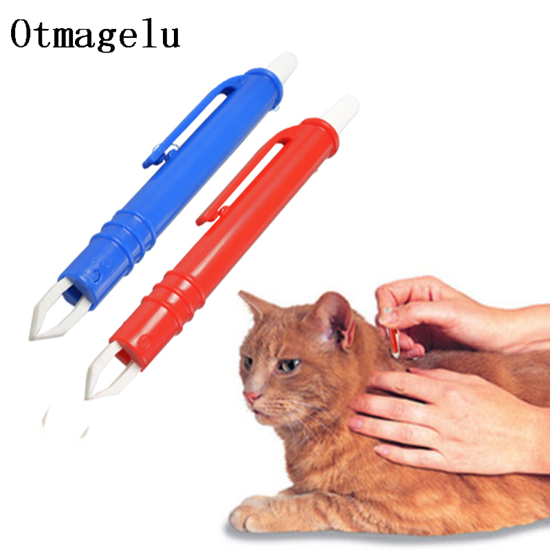 Portable Mini Mite Acari Tick Remover Eliminate Tweezers Pet Dog Cat Accessoires Flea Puppies Groom Supplies Auxiliary Tools