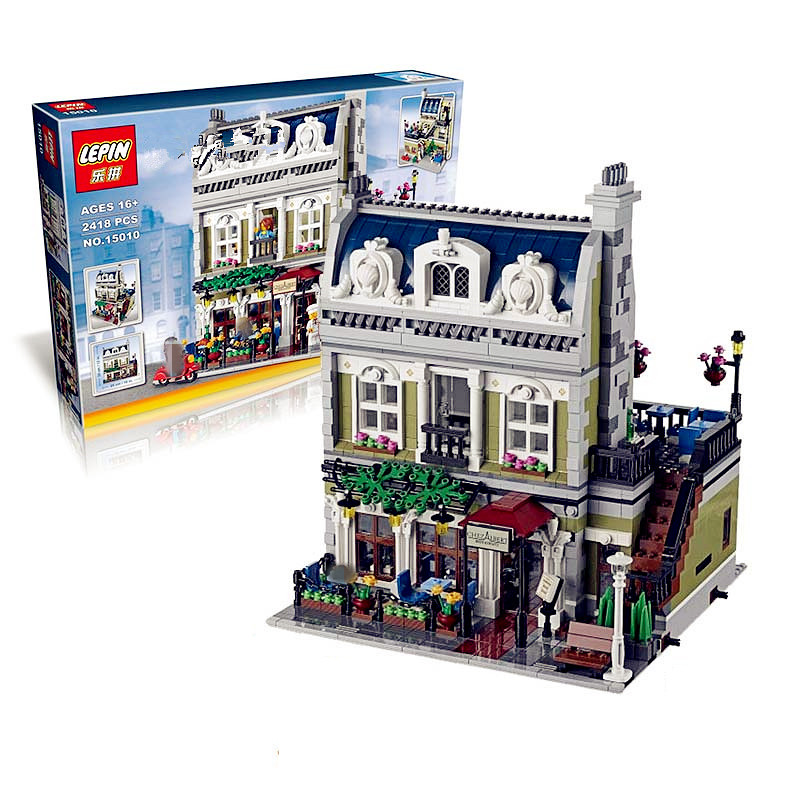 IN STOCK  Lepin 15010 2148PCS  Expert City Street Parisian Restaurant Model Building Kits Blocks Toy Compatible 10243 new lepin 15010 expert city street parisian restaurant model building kits blocks funny children toys compatible with 10243 gift