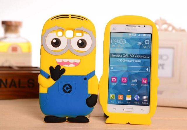 2d606ebfc52 Cute Minions Fundas Case For Samsung Galaxy S3 Neo S4 S5 Mini S6 A3 A5  I9082 i9060i G530 G360 S7580 S7562 i8552 G313 s5830 Cover