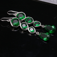 Perfect Green Multi Gems 925 Sterling Silver Drop Dangle Earring S0845