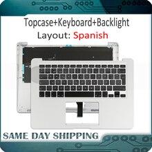 Новый Для MacBook Air 13 «A1466 Испанский SP из Испании верхней крышке Topcase Упор для рук с клавиатурой 2013 2014 2015 год 661-7480 069-9397