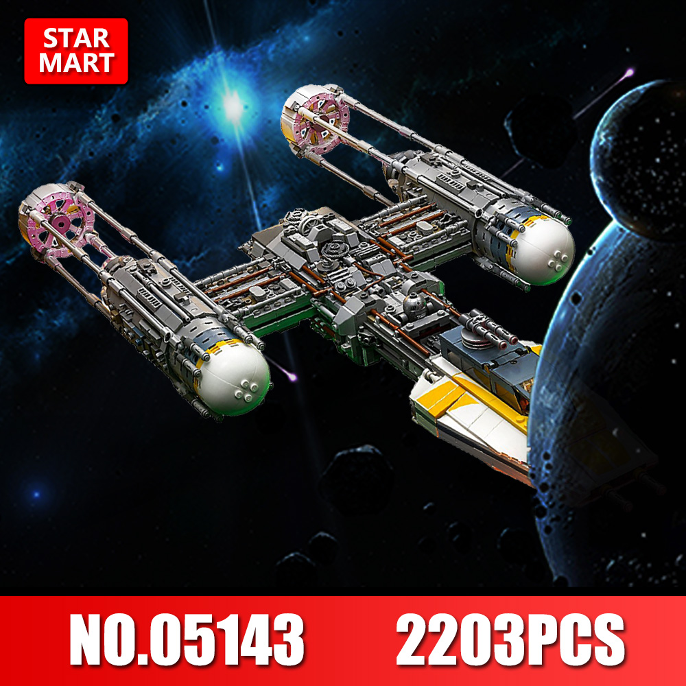 Lepin 05143 Star Series Wars The New Y-wing Starfighter Set Model Building Blocks Bricks DIY Toys Kids Gifts legoINGE 75181 482pcs star space the ja quadjumper set model building blocks bricks toys kids gifts compatible legoings star series wars 75178