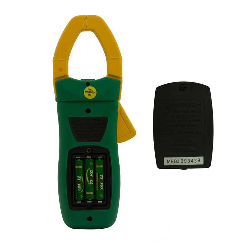 MASTECH MS2138R Digital Clamp Meter 4000 Counts AC DC Voltage Current Capacitance Resistance Tester - 2