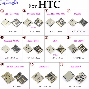 JCD For HTC Desire 816 820 610 626 826 One S M7 Sim SD TF Card Reader Holder Slot Socket Connector Mobile Phone Cable image