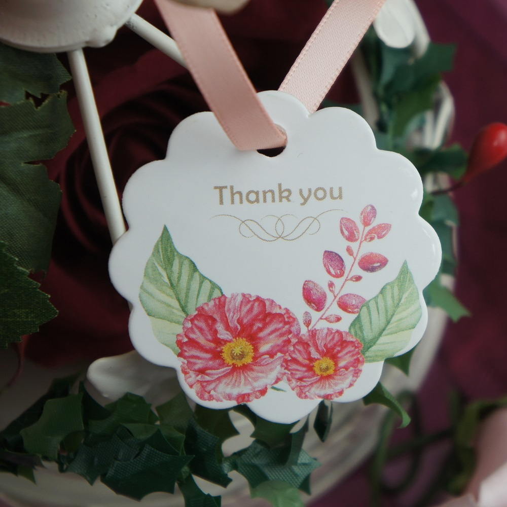 multi use 50pcs thank you sun flower design Scrapbooking decoration tags as wedding gift label DIY gift use in Party DIY Decorations from Home Garden