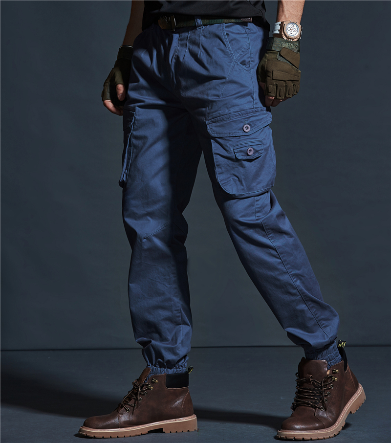 a294da0902 Harem Cargo Pants Men Mens Blue Khaki Military Tactical Pants Jeans Denim  Trousers pantalon tactico hombre sarouel homme.FA14-in Cargo Pants from  Men s ...