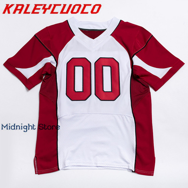 b09d0892c94 Custom Made Men Women Youth High Quality Stitched Logos Name Number Football  Jerseys Big Tall Size Color Black Red White
