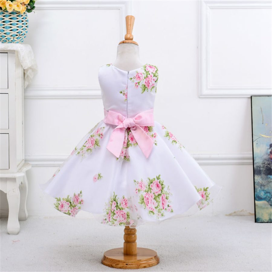 girl summer clothes 2016 children evening gowns baby girls pink green party dress costumes casual dresses for kids child NQ182