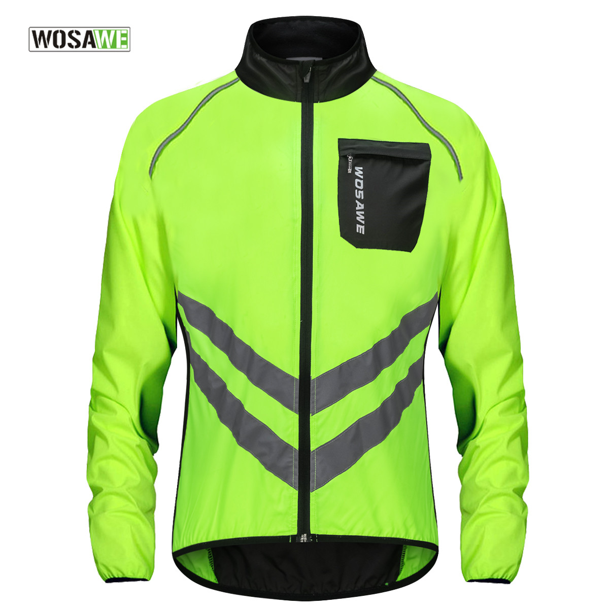 Cycling Jackets Learned Wosawe Reflective Jackets Mtb Winter Clothing Fleece Cycling Bike Breathable Green Windbreaker Windproof Waterproof Pockets Cycling Clothings