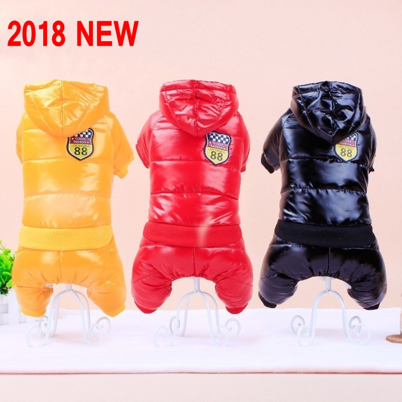 New Waterproof Fabric Dog Coat Winter Large Size Pet Dog Clothes Thickening Dog Down Jacket Clothing For Pet Dogs Costume