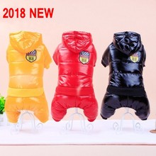2018 New Waterproof Fabric Dog Coat Winter Large Size Pet Dog Clothes Thickening Dog Down Jacket Clothing For Pet Dogs Costume