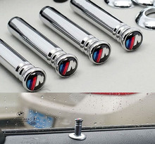 4 Pcs/Set Car Styling M Logo Modified Door Pin Lock Decorative Auto Accessories For BMW X1 X3 X5 X6 E36 E39 E46 E30 E60 E90 E92