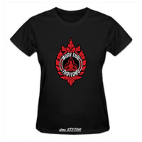 RTTMALL Summer Style Lady Matial Art T Shirt camiseta Wholesale Short Sleeve Classic Muay Thai Badge Logo Women Family T-shirts
