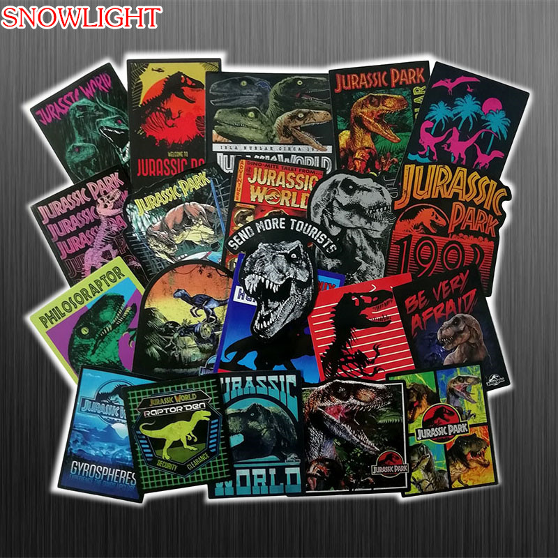 75PCS Cartoon Jurassic Park Stickers Toys For Children Animal Dinosaur Sticker Decal For Laptop Skateboard Suitcase
