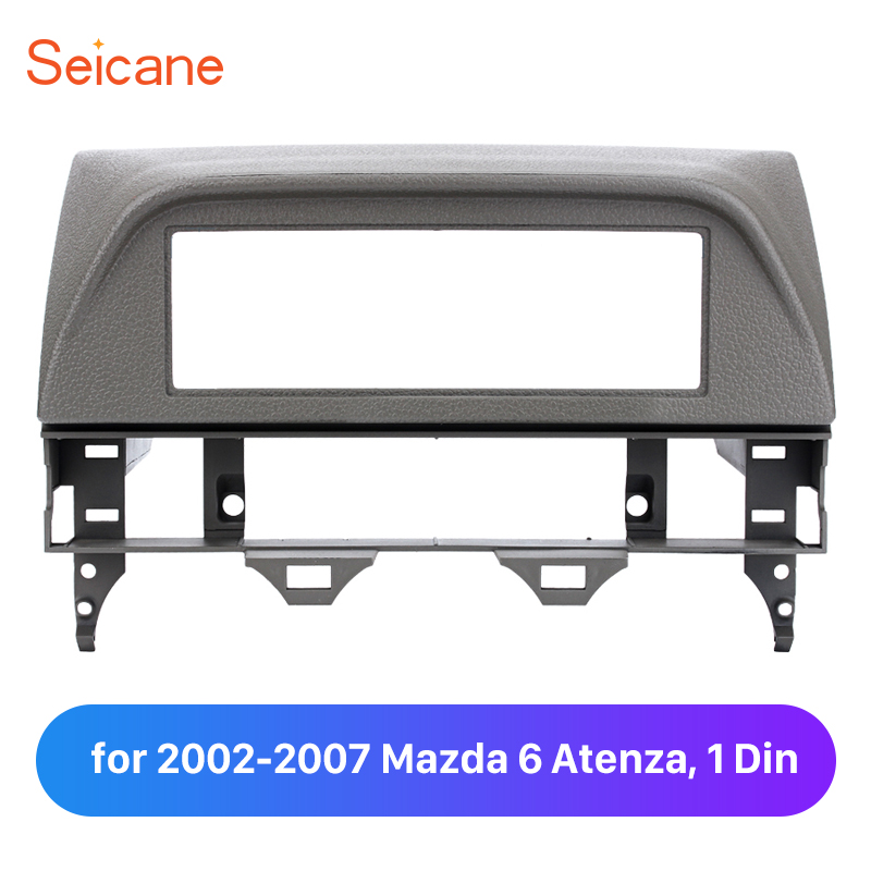 Seicane One Din Car Refitting Dashboard Panel Plate for 2002-2007 Mazda 6 Atenza Surrounded Trim Kit image