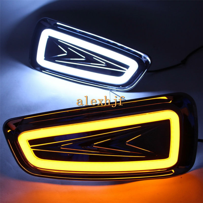 July King LED Light Guide Daytime Running Lights Case for Ford F-150 SVT Raptor 2010~2014, LED DRL With Yellow Turn Signals, 1:1 nirvel professional artx 5 3 золотистый светло каштановый 60 мл