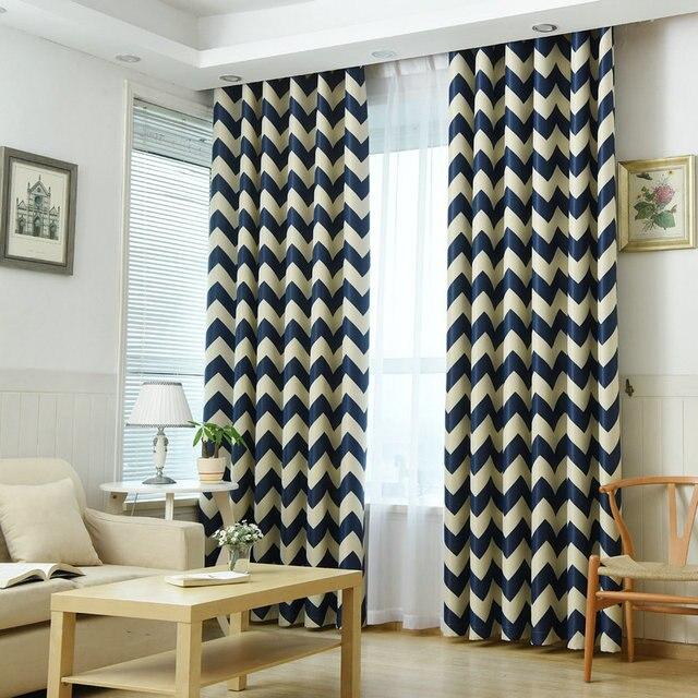 Estilo mediterráneo cortina de apagón para dormitorio/sala de estar ...