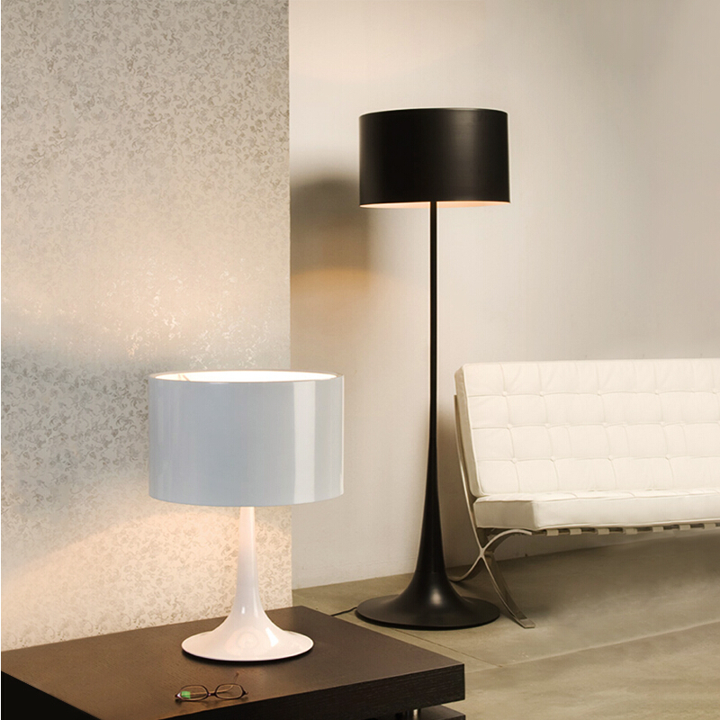 dia39cm h170cm whiteblack modern wrought iron floor lamp living room stand lamps aluminum led light office bedroom home fl 11 in floor lamps from lights - Standing Lamp Living Room