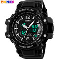 SKMEI 2017 New china Brand Men fashion sports Watches analog digital LED display 50M waterproof Wristwatches chronograph PU band